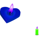 download Valentines Candle clipart image with 225 hue color