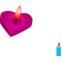 download Valentines Candle clipart image with 315 hue color