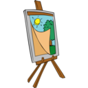 Easel With Kids Painting