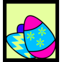 download Easter Eggs clipart image with 135 hue color