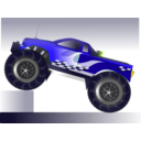 download Monster Truck Stunt clipart image with 45 hue color