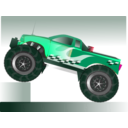 download Monster Truck Stunt clipart image with 315 hue color