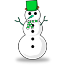 download Snowman clipart image with 135 hue color