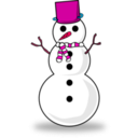 download Snowman clipart image with 315 hue color