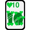 download Ten Of Hearts clipart image with 135 hue color
