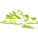 download Sydney Opera clipart image with 225 hue color