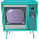 download Vintage Tv clipart image with 135 hue color