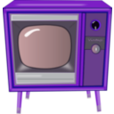 download Vintage Tv clipart image with 225 hue color