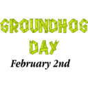 download Groundhog Day Sign clipart image with 45 hue color
