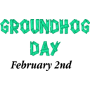 download Groundhog Day Sign clipart image with 135 hue color