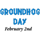 download Groundhog Day Sign clipart image with 180 hue color