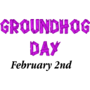 download Groundhog Day Sign clipart image with 270 hue color