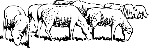 Sheep Grazing Clipart I2clipart Royalty Free Public