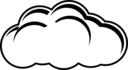 Simple Cloud Black White