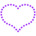 download Heart Shaped Border With Yellow Stars clipart image with 225 hue color