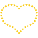 Heart Shaped Border With Yellow Stars