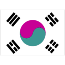 download South Korea clipart image with 315 hue color