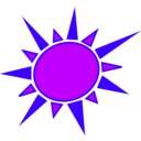 download Yellow And Orange Sun clipart image with 225 hue color