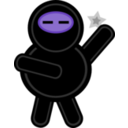 download Plump Ninja clipart image with 225 hue color