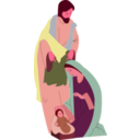 download Nativity clipart image with 315 hue color