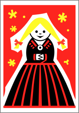 Matchbox Label Girl By Rones