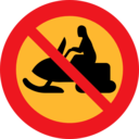 No Snowmobiles Sign