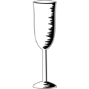 download Champagne Glass clipart image with 315 hue color