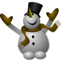 download Happy Snowman 1 clipart image with 45 hue color