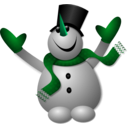 download Happy Snowman 1 clipart image with 135 hue color