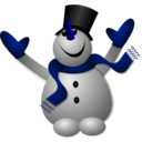 download Happy Snowman 1 clipart image with 225 hue color