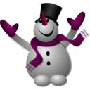 download Happy Snowman 1 clipart image with 315 hue color