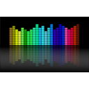 download Music Equalizer clipart image with 135 hue color