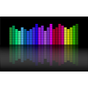 download Music Equalizer clipart image with 225 hue color