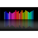 download Music Equalizer clipart image with 315 hue color