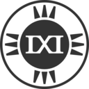 Fictional Brand Logo Ixi Variant D