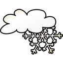 download Weather Symbols Snow Storm clipart image with 225 hue color