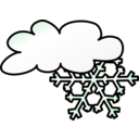 download Weather Symbols Snow Storm clipart image with 315 hue color