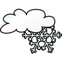 Weather Symbols Snow Storm