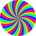 download Rainbow Swirl 120gon clipart image with 45 hue color