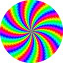 download Rainbow Swirl 120gon clipart image with 135 hue color