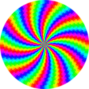 download Rainbow Swirl 120gon clipart image with 225 hue color