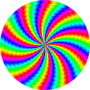 download Rainbow Swirl 120gon clipart image with 315 hue color