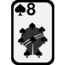 download Eight Of Spades clipart image with 315 hue color