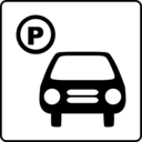 download Hotel Icon Has Parking clipart image with 135 hue color