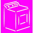 download Washing Machine White Stroke clipart image with 180 hue color