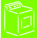 download Washing Machine White Stroke clipart image with 270 hue color