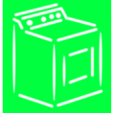 download Washing Machine White Stroke clipart image with 315 hue color