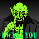 download I Want You clipart image with 90 hue color