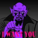 download I Want You clipart image with 270 hue color