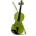 download Violin clipart image with 45 hue color